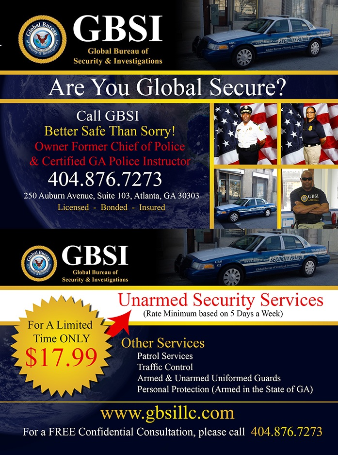 Newsletter Global Bureau Of Security Amp Investigations